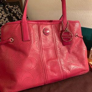 Fun pink Coach purse